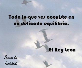 Frases de amistad disney de El Rey Leon