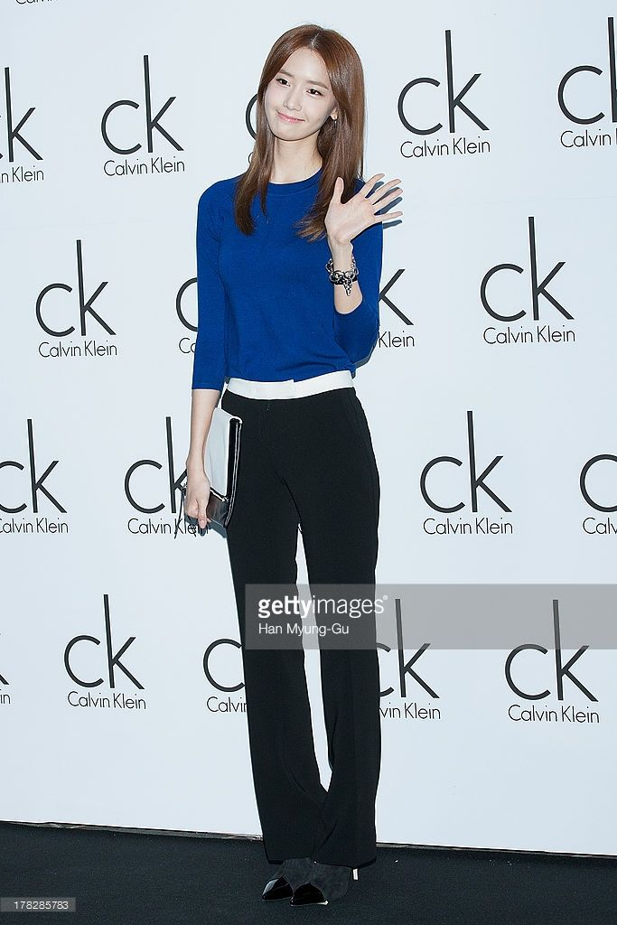 Yoona of South Korean girl group Girls' Generation attends during the Calvin Klein 2013 F/W Live Model Presentation at ck Calvin Klein Gangnam Store on August 28, 2013 in Seoul, South Korea.