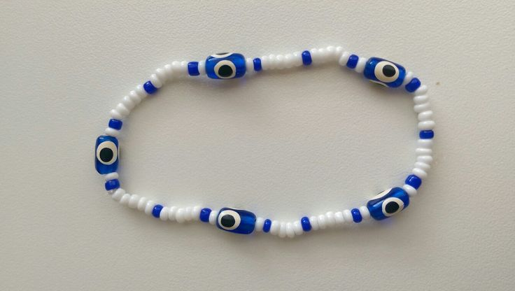 Bracelet, ❤ evil eye & navy