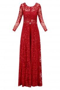 Red Threadwork Front Open Jacket Kurta with Flared Pants #asthanarang #shopnow #ppus #happyshopping