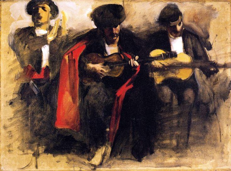 The Athenaeum - Study for Seated Musicians 'El Jaleo' (John Singer Sargent - ), Fogg Museum of Art  1880