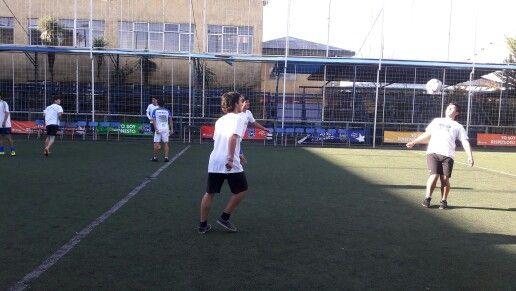 Entrenando nuestra Selección de fútbol varones al aire libre en #CDSPolivalente