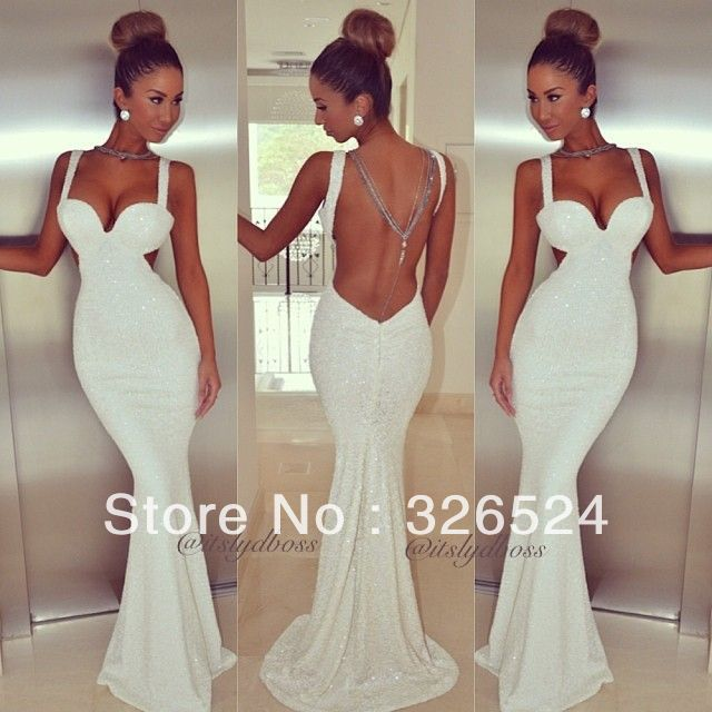 2014 hot&sexy evening dress sweetheart tank straps backless mermaid sexy prom dress  20140224 $121.00
