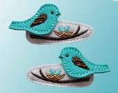 Bird sentido del pelo Clip U recoger Snap clip de cocodrilo clip de Jibbitz para crocs o centro Hairbow