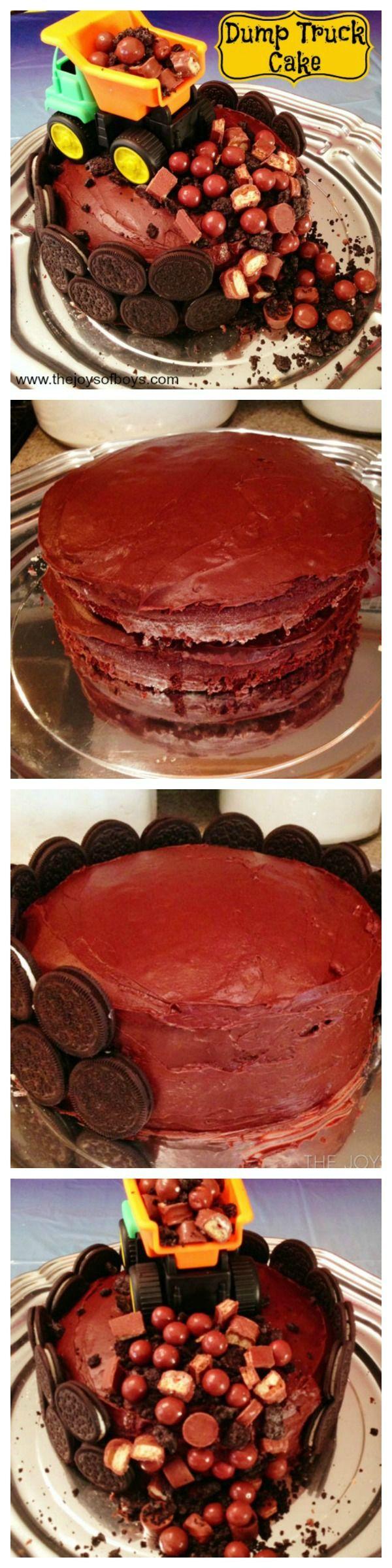 Easy Dump Truck Cake | Birthday Cake for boys