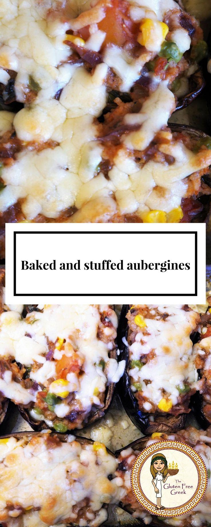 Baked and stuffed aubergines Vegetarian