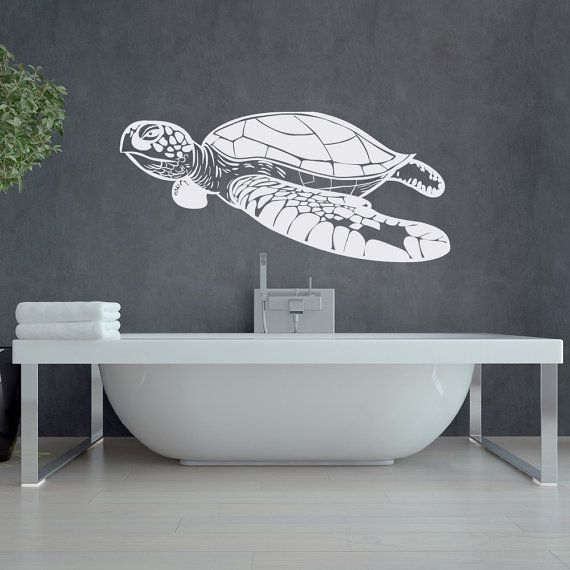 Turtle Wall Decal Sea Animals Decor Nautical Wall by HomyVinyl