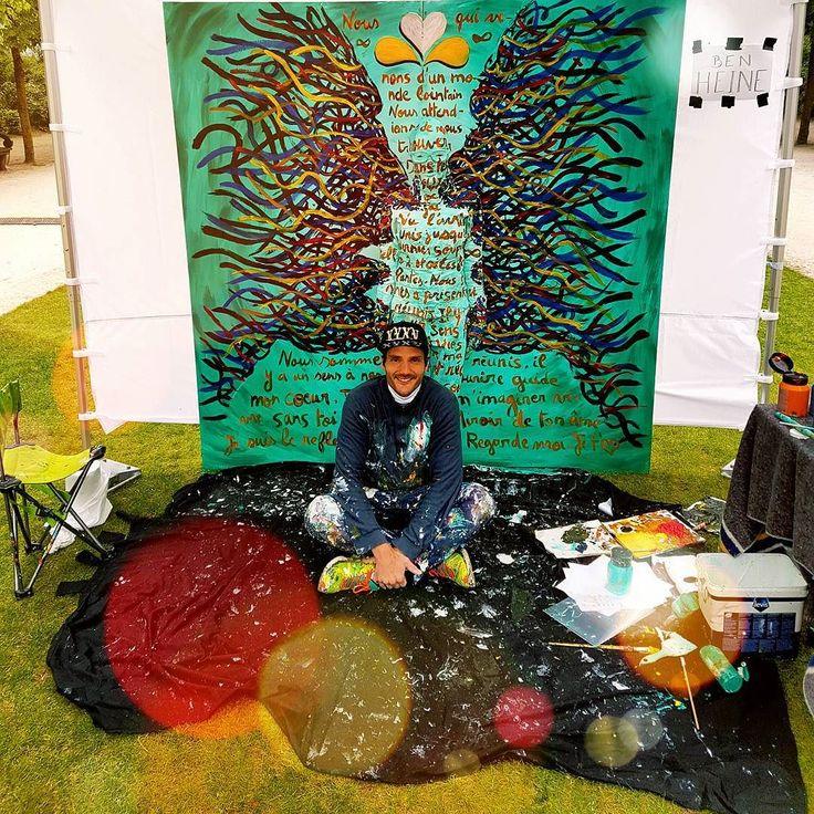 Project made for Brussels Iris Festival Projet réalisé pour la fête de l'Iris  #benheineart #fetedeliris #irisfestival #brussels #bruxelles #visitbrussels #fleshandacrylic #bodypainting #brushes #art #faces #model #colours #music #visage #benheinemusic #peinture #musique #painting #performance #couleurs #regard #miroirdetoname #miroir #mirror