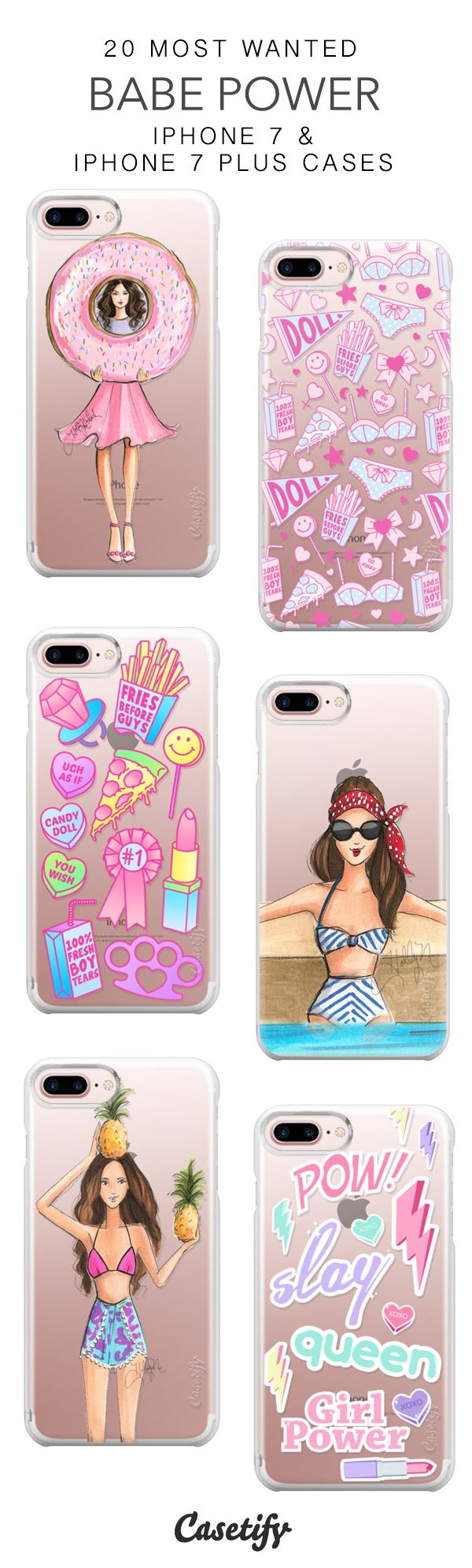20 Most Wanted Babe Power Protective iPhone 7 Cases and iPhone 7 Plus Cases. More Girls Power iPhone case here > https://www.casetify.com/collections/top_100_designs#/?vc=vvJ1231D5p