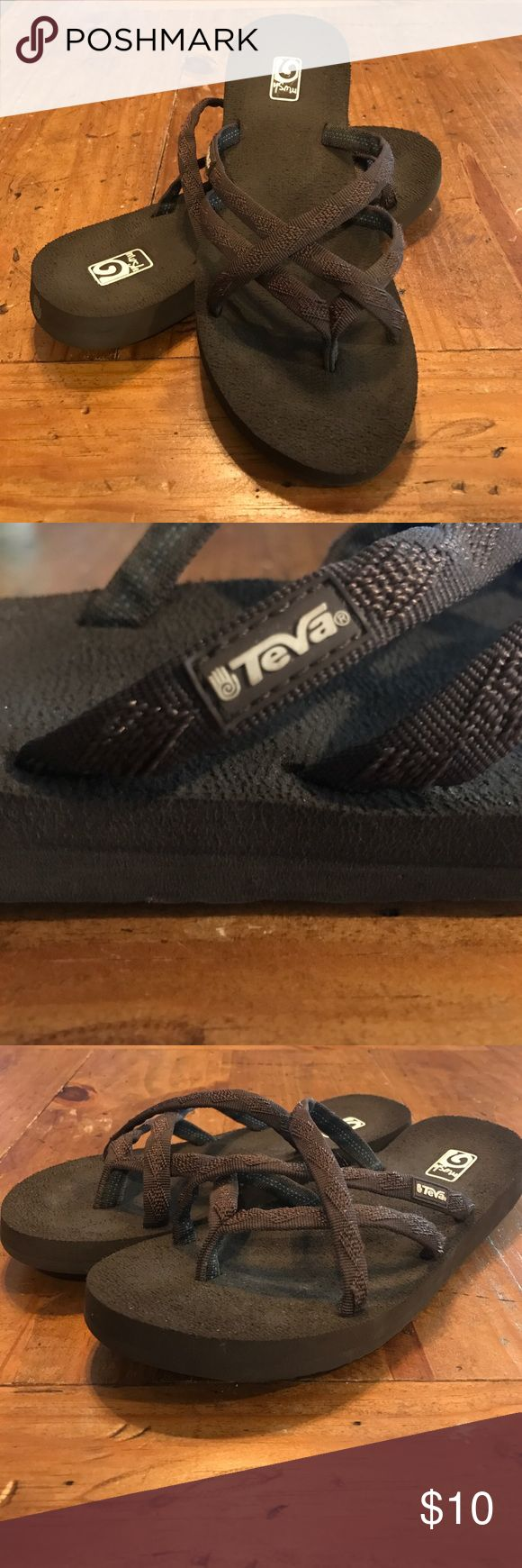 TeVa Flip Flops. Super Comfy! Super Cute! TeVa Brand Flip Flops! Lightly worn. Description in photos. They are Women's Size 8 but they run a size smaller. I wear a size 7 and they fit me perfectly! Teva Shoes Sandals