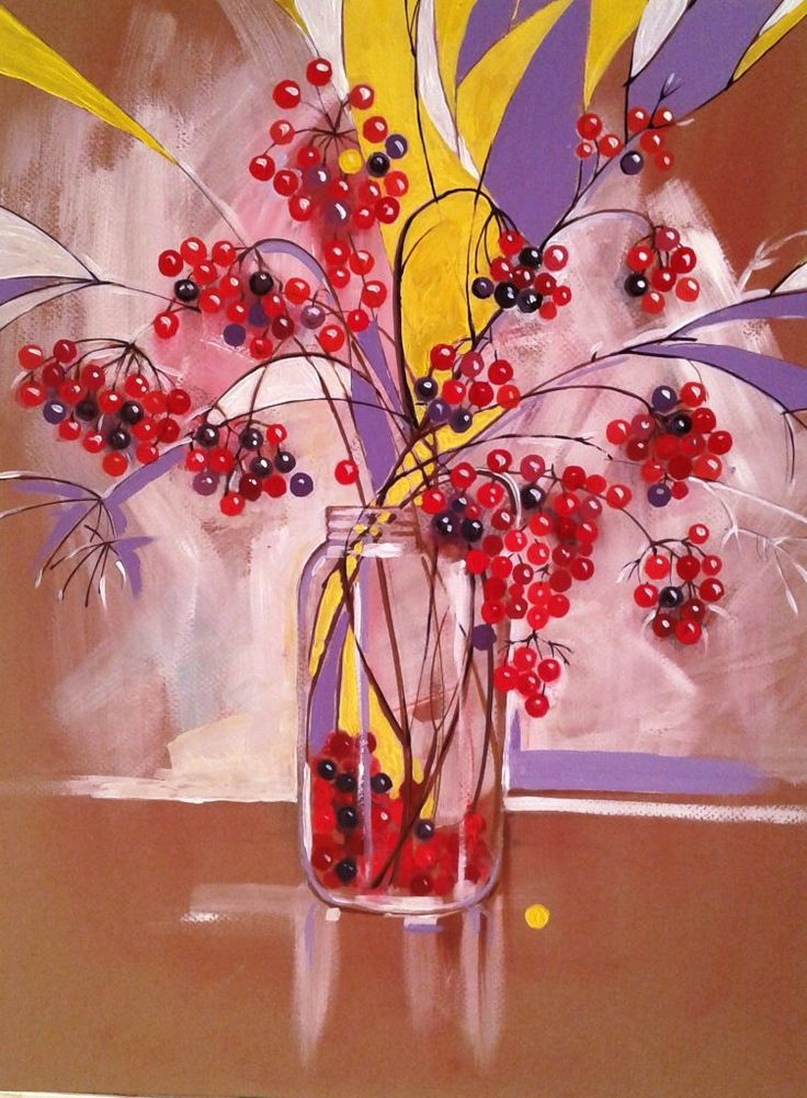 Vase-with-flowers-painting
