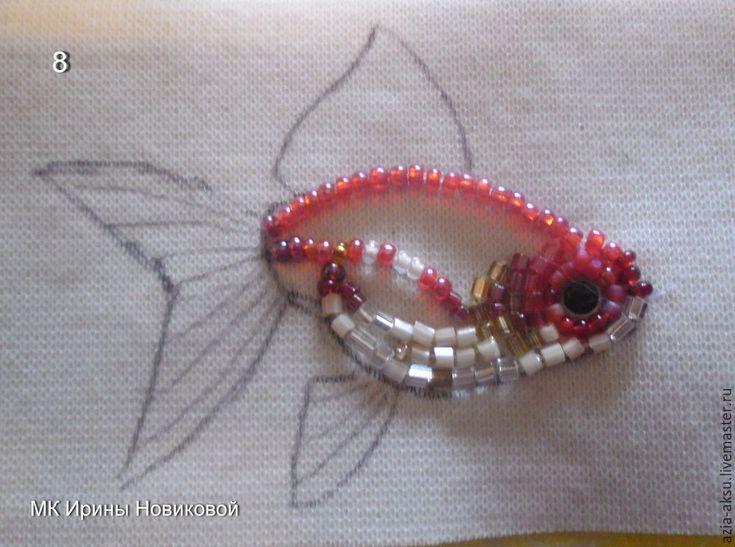 Вышиваем бисером золотую рыбку - Ярмарка Мастеров - ручная работа, handmade