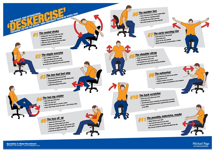 26 Best Deskercise Images On Pinterest Exercises Office