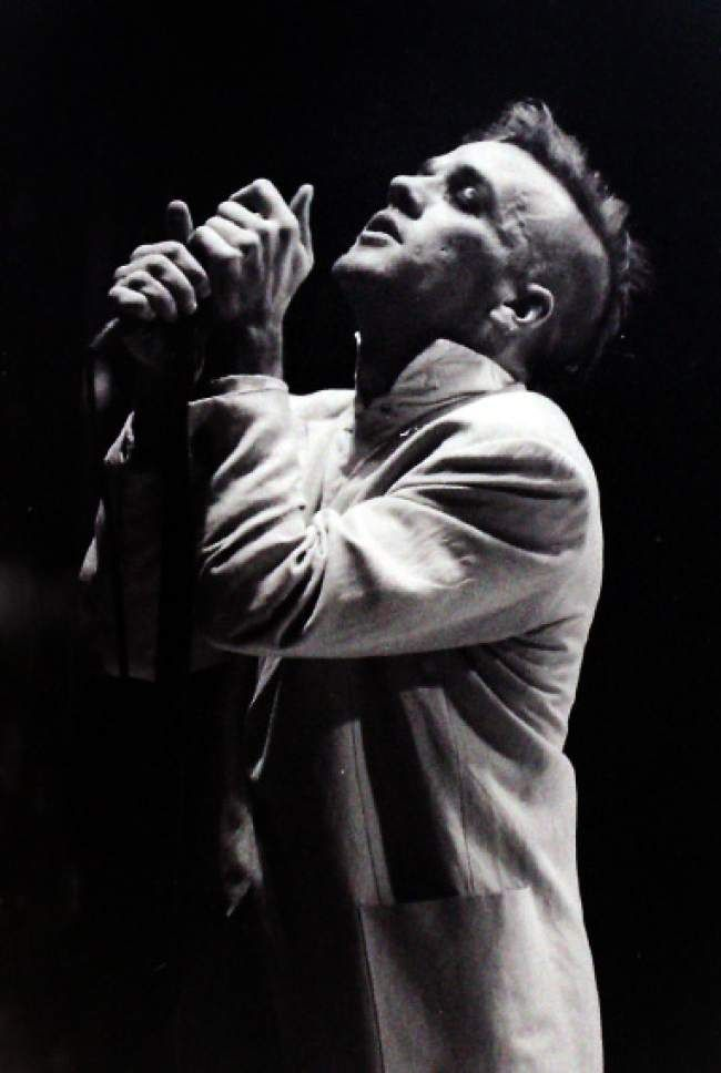 (Rick Egan   The Salt Lake Tribune) Michael Stipe, of R.E.M., performs at The Salt Palace during the band's Green Tour in October 1989.