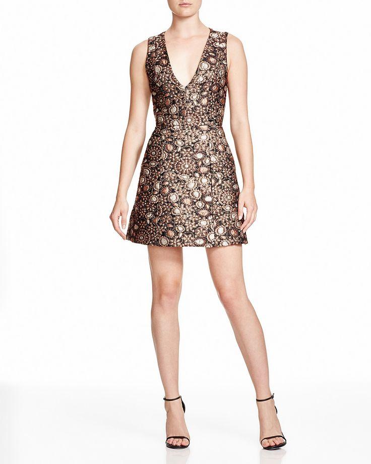 Alice + Olivia Pacey Floral Brocade Dress | Bloomingdale's
