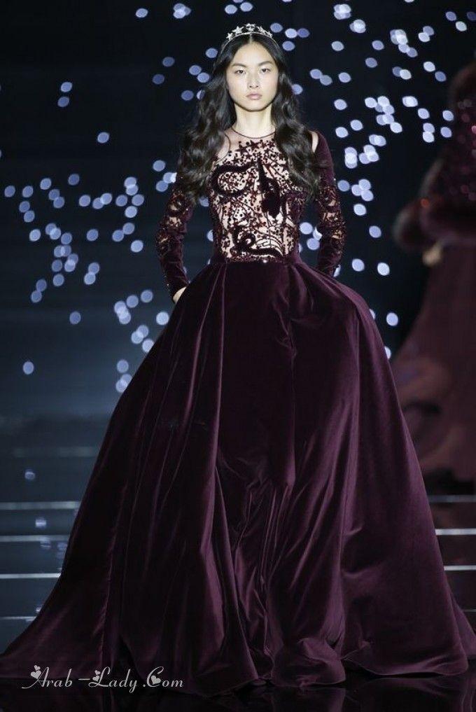 14d683b85 أجمل فساتين السهرة من المخمل | Fashion in 2019 | Fashion, Couture ...