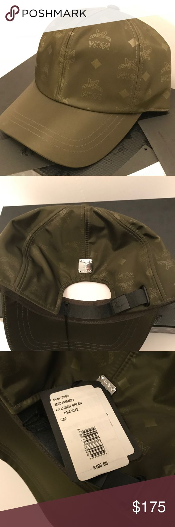 "Mcm dieter monogrammed nylon baseball cap hat new! 2.75"" brim Logo pattern Adjustable back Shell: nyon; lining: polyester/cotton; exclusive of decoration Imported  100% Authentic   comes with all original packaging. bag,warranty card,tags attached. MCM Accessories Hats"