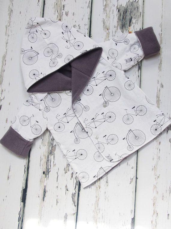Reversible Baby Jacket  Baby Boys Coat  Toddler by LottieandLysh