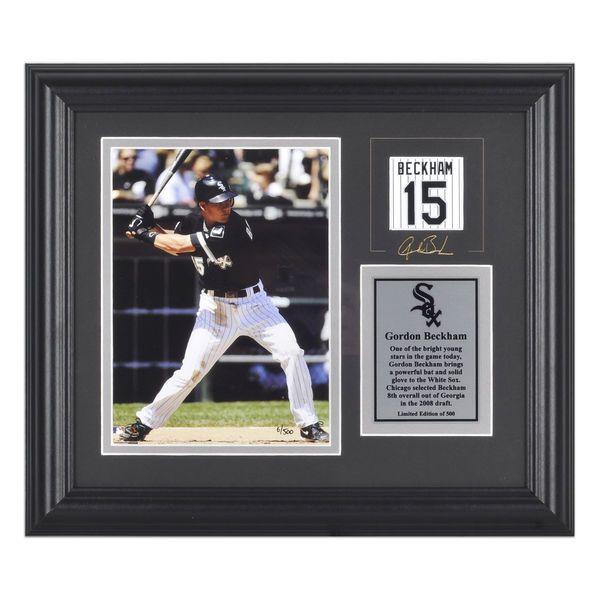 "Gordon Beckham Chicago White Sox Fanatics Authentic Framed 6"" x 8"" Photograph with Facsimile Signature & Plate - $9.99"