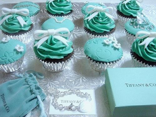 Tiffany & Co. cupcakes