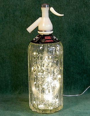#Novelty table lamp - #vintage #1960s glass schweppes soda siphon with fairy ligh,  View more on the LINK: http://www.zeppy.io/product/gb/2/172154073238/