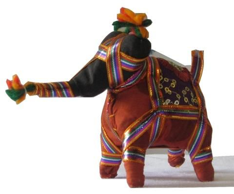 Authenic Handmade Elephant from the Artisans of Rajasthan LXHXW-13cmX9.5cmX5cm