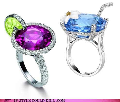 cocktail rings - cute!
