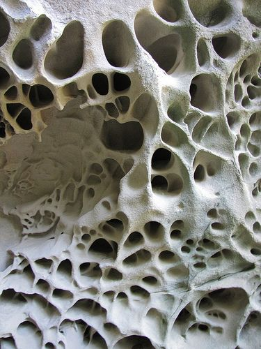 tafoni sandstone rock by randomtruth, via Flickr