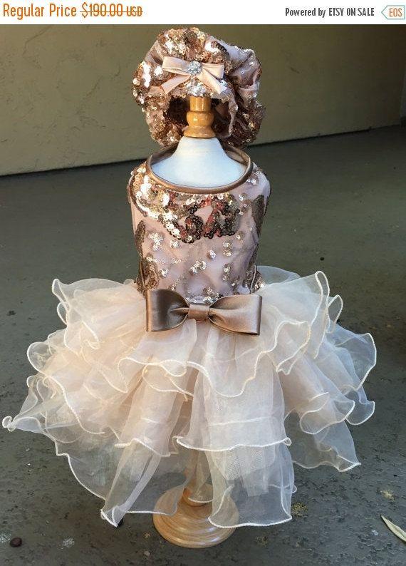 ON SALE Blush Cotillion Dog Dress por LOLADOGdesigns en Etsy