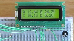 Arduino LCD Voltmeter with 4 channels