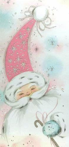 17 best images about pink santa on pinterest vintage. Black Bedroom Furniture Sets. Home Design Ideas