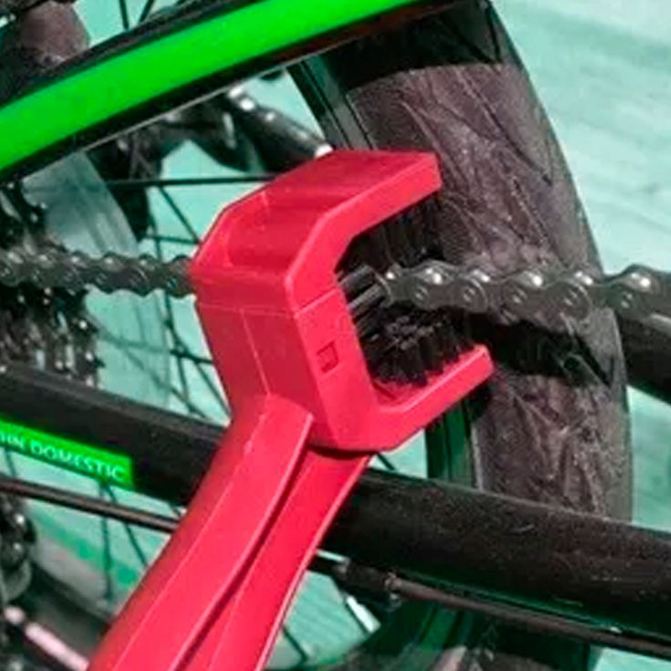 Cepillo Limpiador De Cadena De Bicicleta Moto Rojo  #cepillo #cadena #Bicicleta #Paseo #Regalo #México #ciclismo