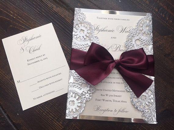 Kaution  metallische Deckchen Hochzeit von InvitationsbyErin