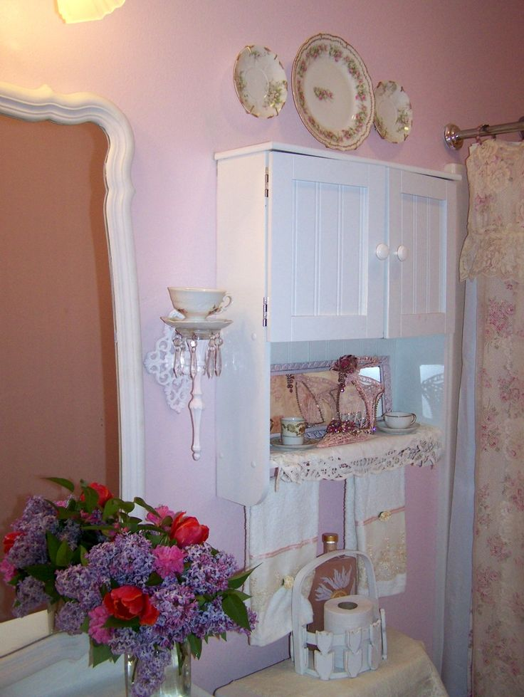 shabby chic bathrooms my little princess and i picked some fresh flowers today and they