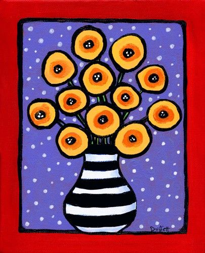 Funky Poppies Print by AliceinParis on Etsy, $20.00