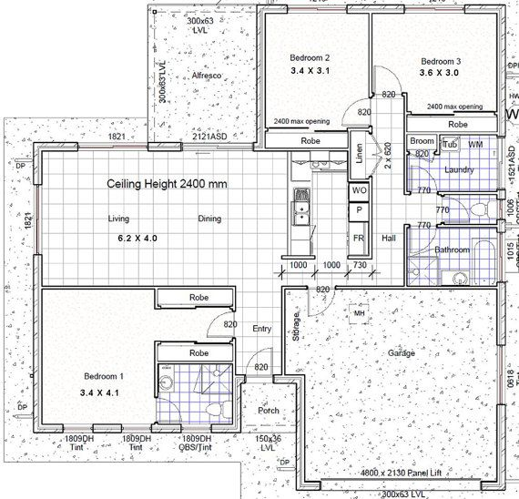 House Plan 182sb Rh 3 Bed Small Home Batch Beach House Plans 3 Bedrooms Size 182 M2 Buy Th Three Bedroom House Plan Bedroom House Plans Garage House Plans