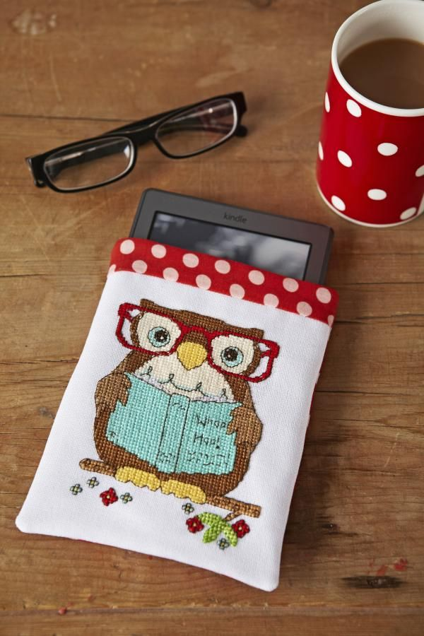 CrossStitcher reading owls February issue 262