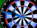 Bulls Eye - http://zoopgames.com/bulls-eye/ - The game rules are the same as a standard game of darts. You must score points to reduce your remaining score to zero with as few darts as possible. You must also end the game with a double or a bullseye – not easy!    - Bulls Eye