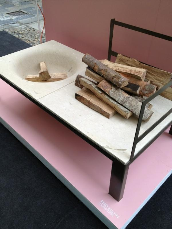 Modern fireplace. use tabletop firepot