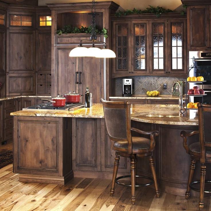 Knotty Alder Wood Cabinets: Mountain Modern Kitchen In Knotty Alder.