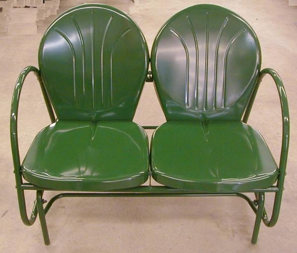 Double Metal Glider Hunter Green Tulip Retro Lawn Chair - Best 25+ Metal Lawn Chairs Ideas On Pinterest Lawn Chairs