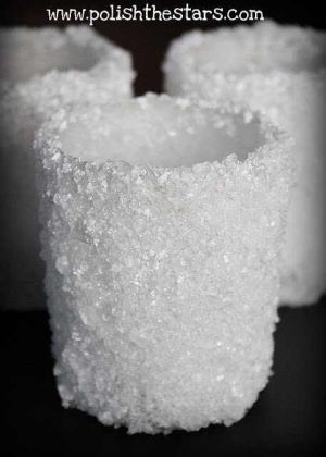 Snowball Candle Holders  Made with Epsom  Salt