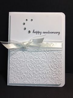 My Creative Corner!: Express Yourself Anniversary Card... Make rhinestones into a heart.