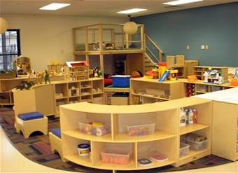 playroom/daycare - separated spaces make it impossible for the kids to run