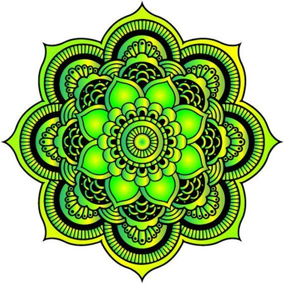 Watercolor Mandala Mandala Car Sticker Car Window Decal Boho