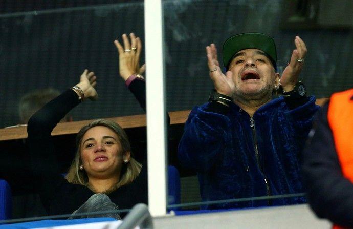 Maradona apoia Delbonis na final da Copa Davis (Foto: Reuters)