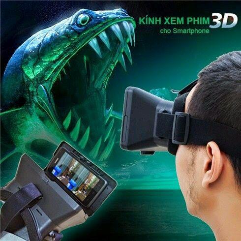 KÍNH XEM PHIM 3D DÀNH CHO SMART PHONE GIÁ 200k