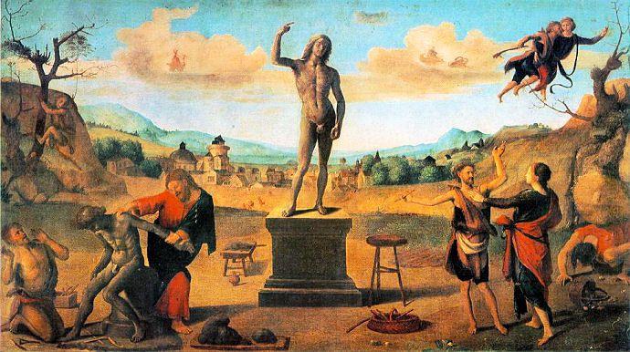 Histoire de Prométhée par Piero Cosimo © Alte Pinakothek (c. 1510)