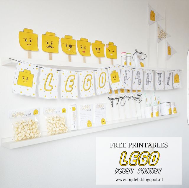 Free printable Lego feest pakket...