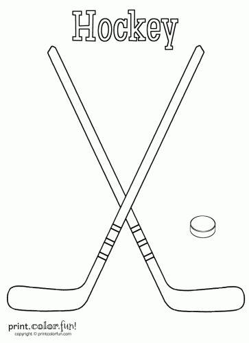 Hockey sticks and puck